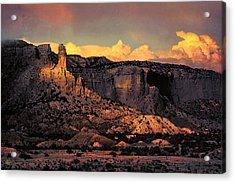 Georgia O Keefes Ghost Ranch House - Last Moments Of Sun Acrylic Print