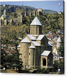 Georgia. Tbilisi. Meteki Church Acrylic Print