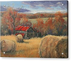 Georgia Valley In Autumn Acrylic Print