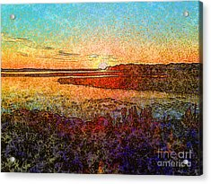 Georgian Bay Sunset Acrylic Print by Claire Bull