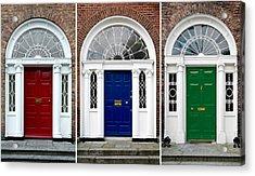 Georgian Doors - Dublin - Ireland Acrylic Print by Jane McIlroy