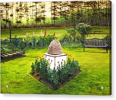 Acrylic Print featuring the painting Georgian Herb Garden by Kevin F Heuman