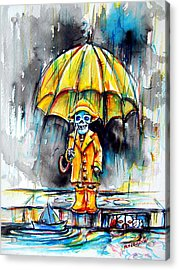 Acrylic Print featuring the painting Georgie by Heather Calderon