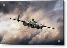 Georgie's Gal B-25 Acrylic Print by Peter Chilelli