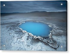 Geothermal Pool Iceland Acrylic Print by Mart Smit