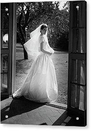 Geraldine Kohlenberg Wearing A Wedding Dress Acrylic Print by Horst P. Horst