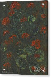 Geraniums Acrylic Print by Celestial Images