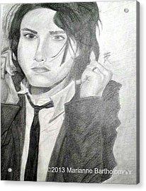 Gerard Way Acrylic Print by Marianne Bartholomew