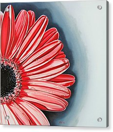 Acrylic Print featuring the painting Gerber Daisy 2 by Kevin F Heuman