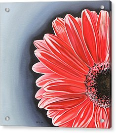 Acrylic Print featuring the painting Gerber Daisy by Kevin F Heuman