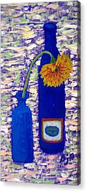 Acrylic Print featuring the painting Gerbera And Zinfandel by Brenda Pressnall