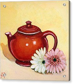 Acrylic Print featuring the painting Gerberas by Katherine Miller