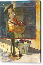 Acrylic Print featuring the painting Gere-a-delis Brass Chef by Sandy Linden