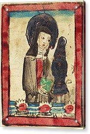 German 15th Century, Saint Clare Of Assisi, 1450-1470 Acrylic Print