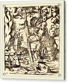 German 16th Or 19th Century, Saint Christopher Acrylic Print by Litz Collection