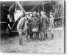 German Aeroplane And Officers Acrylic Print