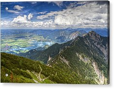 Acrylic Print featuring the photograph German Alps View I by Juergen Klust