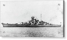 German Battleship Bismarck Acrylic Print by Us Navy/science Photo Library