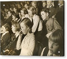 German Children At A Theater Acrylic Print