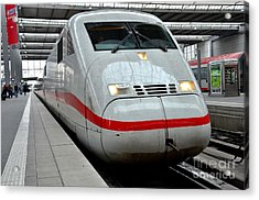 German Ice Intercity Bullet Train Munich Germany Acrylic Print