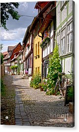 German Old Village Quedlinburg Acrylic Print by Heiko Koehrer-Wagner