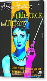 German Poster Of Breakfast At Tiffanys Acrylic Print by Art Cinema Gallery