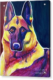 German Shepherd - Burner Acrylic Print by Alicia VanNoy Call