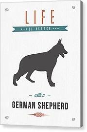 German Shepherd 01 Acrylic Print