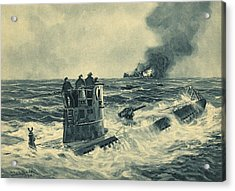 German U-boat Attack, World War II Acrylic Print by Science Photo Library