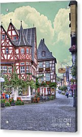 German Village Along Rhine River Acrylic Print