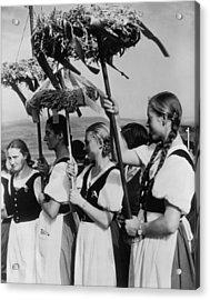 German Women Wearing Traditional Folk Acrylic Print