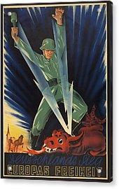 German World War 2 Poster. Deutschlands Acrylic Print