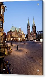 Germany, Bremen,  View Of Town Hall At Acrylic Print by Westend61
