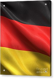 Acrylic Print featuring the photograph Germany Flag by Carsten Reisinger
