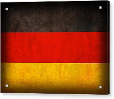 Germany Flag Vintage Distressed Finish Acrylic Print by Design Turnpike