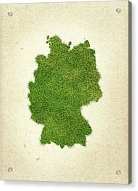 Germany Grass Map Acrylic Print by Aged Pixel