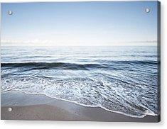 Germany, Mecklenburg-western Pomerania, Usedom, Waves On The Beach Acrylic Print by Westend61