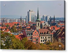 Germany, Thuringia, Erfurt, View Of City Acrylic Print by Westend61