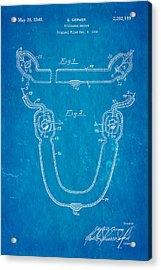 Germer Mercury Vapour Lamp Patent Art 1940 Blueprint Acrylic Print by Ian Monk