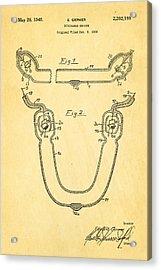 Germer Mercury Vapour Lamp Patent Art 1940 Acrylic Print by Ian Monk