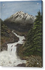 Acrylic Print featuring the painting Gerri's Mountain by J L Zarek