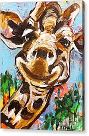 Gerry The Giraffe Acrylic Print