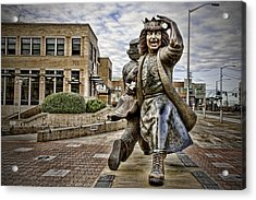 Gertrude Late For Interurban Acrylic Print by Joanna Madloch