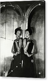 Gertrude Lawrence By A Mirror Acrylic Print