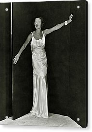 Gertrude Lawrence In A Molyneux Dress Acrylic Print by George Hoyningen-Huen?
