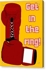 Get In The Ring Acrylic Print by Pharris Art