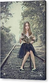 Get On The Right Track Acrylic Print by Evelina Kremsdorf
