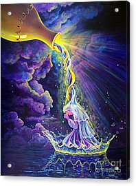 Acrylic Print featuring the painting Get Ready by Nancy Cupp