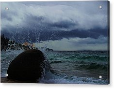 Acrylic Print featuring the photograph Get Splashed by Sean Sarsfield