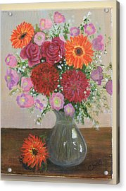 Get Well Flowers Acrylic Print by Catherine Hamill